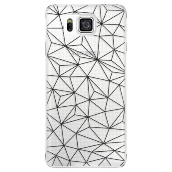 Plastové pouzdro iSaprio - Abstract Triangles 03 - black - Samsung Galaxy Alpha