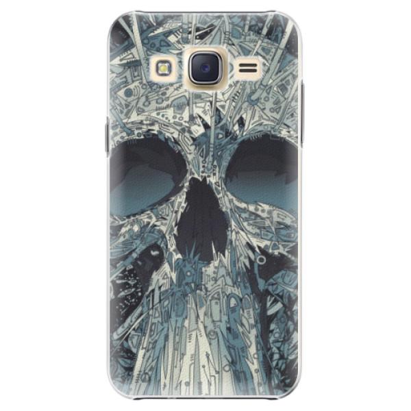 Plastové pouzdro iSaprio - Abstract Skull - Samsung Galaxy Core Prime