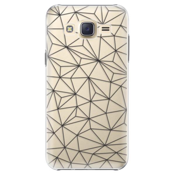 Plastové pouzdro iSaprio - Abstract Triangles 03 - black - Samsung Galaxy Core Prime