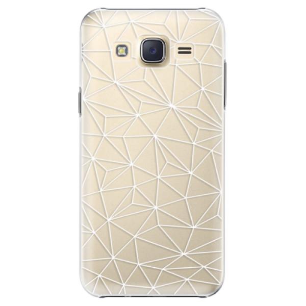 Plastové pouzdro iSaprio - Abstract Triangles 03 - white - Samsung Galaxy Core Prime