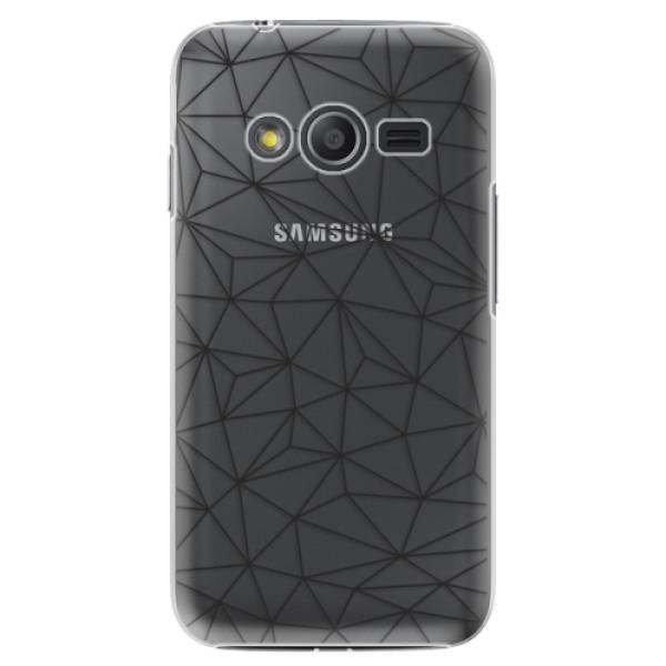 Plastové pouzdro iSaprio - Abstract Triangles 03 - black - Samsung Galaxy Trend 2 Lite