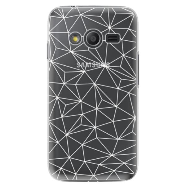 Plastové pouzdro iSaprio - Abstract Triangles 03 - white - Samsung Galaxy Trend 2 Lite