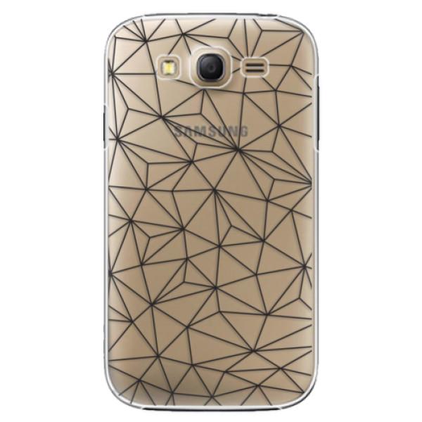 Plastové pouzdro iSaprio - Abstract Triangles 03 - black - Samsung Galaxy Grand Neo Plus