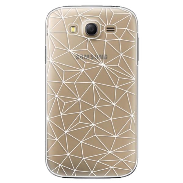 Plastové pouzdro iSaprio - Abstract Triangles 03 - white - Samsung Galaxy Grand Neo Plus