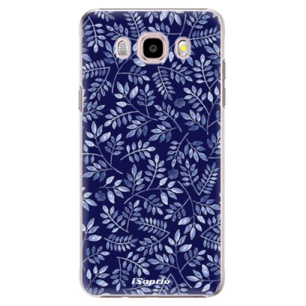 Plastové pouzdro iSaprio - Blue Leaves 05 - Samsung Galaxy J5 2016