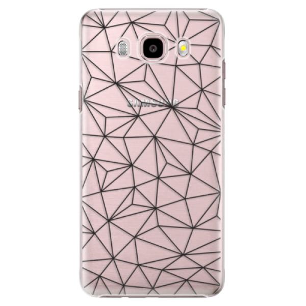 Plastové pouzdro iSaprio - Abstract Triangles 03 - black - Samsung Galaxy J5 2016