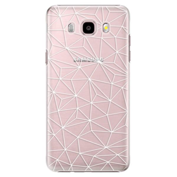 Plastové pouzdro iSaprio - Abstract Triangles 03 - white - Samsung Galaxy J5 2016
