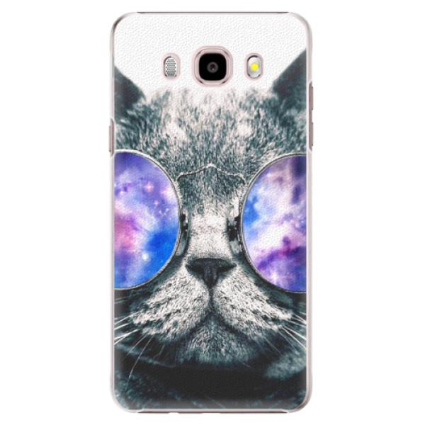 Plastové pouzdro iSaprio - Galaxy Cat - Samsung Galaxy J5 2016