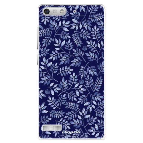 Plastové pouzdro iSaprio - Blue Leaves 05 - Huawei Ascend G6