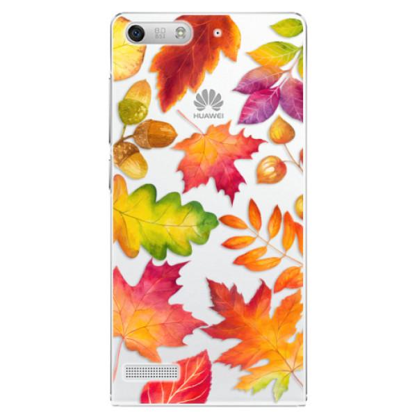 Plastové pouzdro iSaprio - Autumn Leaves 01 - Huawei Ascend G6