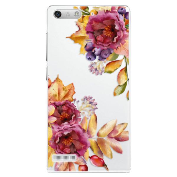 Plastové pouzdro iSaprio - Fall Flowers - Huawei Ascend G6