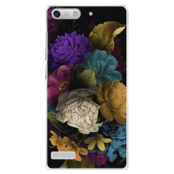 Plastové pouzdro iSaprio - Dark Flowers - Huawei Ascend G6