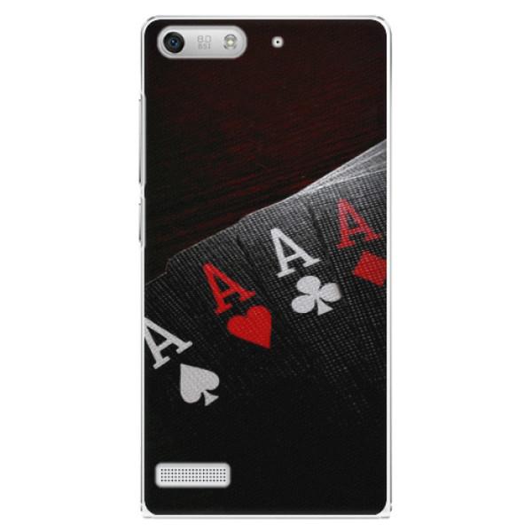 Plastové pouzdro iSaprio - Poker - Huawei Ascend G6