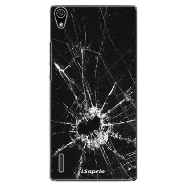 Plastové pouzdro iSaprio - Broken Glass 10 - Huawei Ascend P7