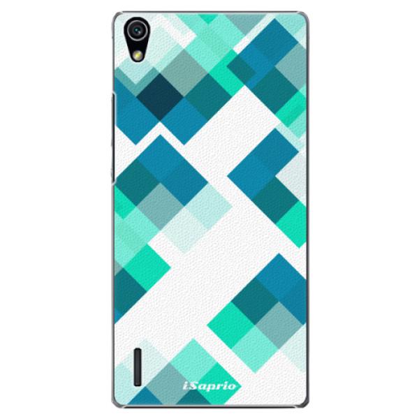 Plastové pouzdro iSaprio - Abstract Squares 11 - Huawei Ascend P7