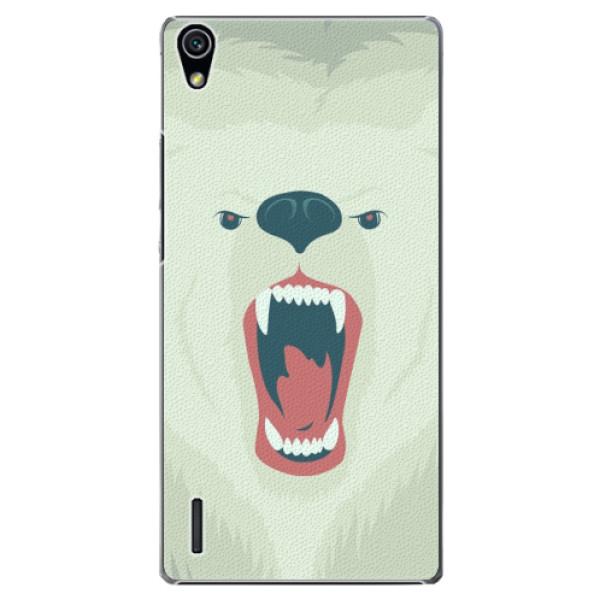 Plastové pouzdro iSaprio - Angry Bear - Huawei Ascend P7