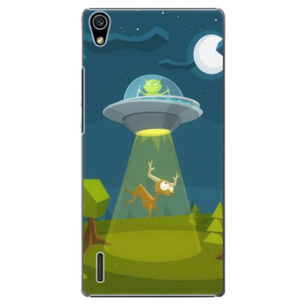 Plastové pouzdro iSaprio - Alien 01 - Huawei Ascend P7