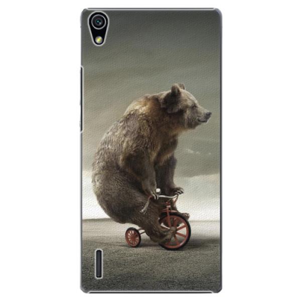 Plastové pouzdro iSaprio - Bear 01 - Huawei Ascend P7