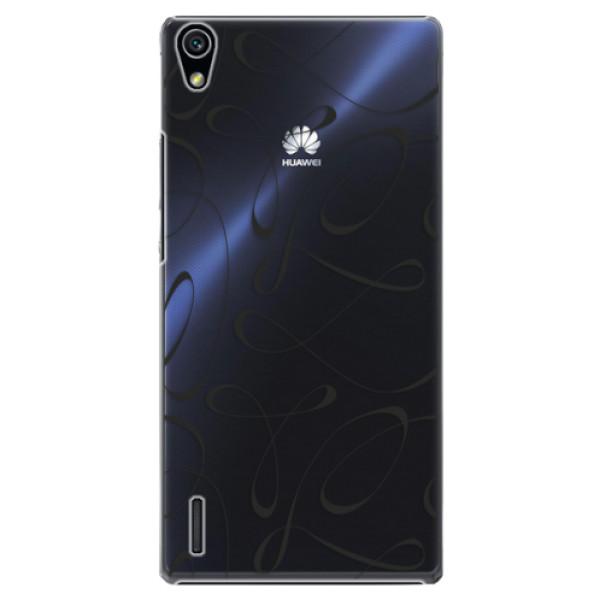 Plastové pouzdro iSaprio - Fancy - black - Huawei Ascend P7