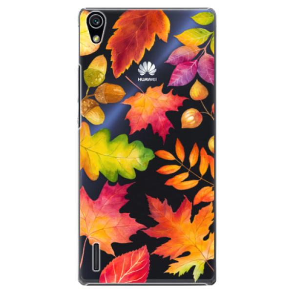 Plastové pouzdro iSaprio - Autumn Leaves 01 - Huawei Ascend P7