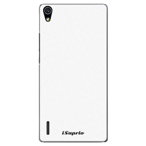 Plastové pouzdro iSaprio - 4Pure - bílý - Huawei Ascend P7