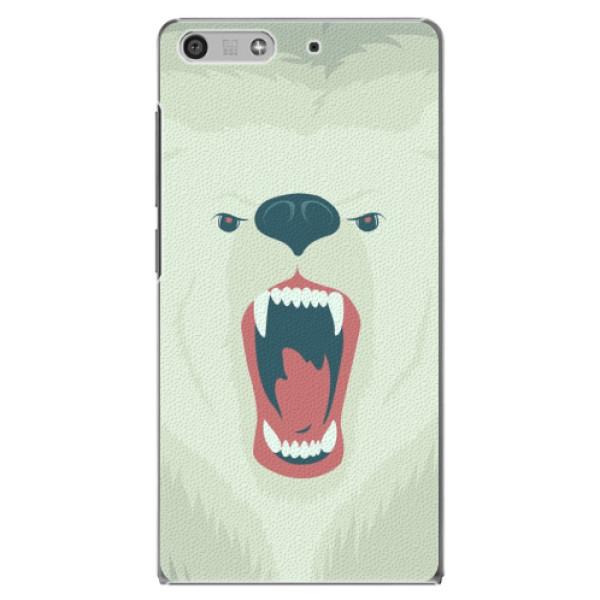 Plastové pouzdro iSaprio - Angry Bear - Huawei Ascend P7 Mini