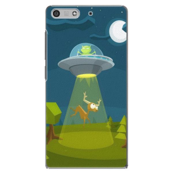 Plastové pouzdro iSaprio - Alien 01 - Huawei Ascend P7 Mini