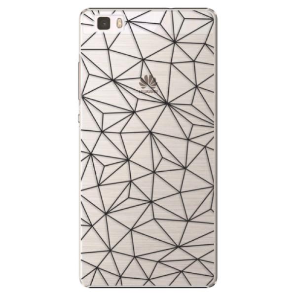 Plastové pouzdro iSaprio - Abstract Triangles 03 - black - Huawei Ascend P8 Lite