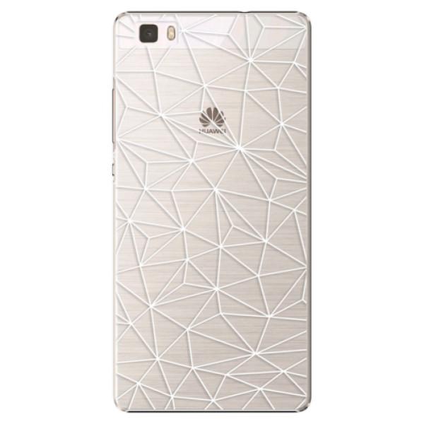 Plastové pouzdro iSaprio - Abstract Triangles 03 - white - Huawei Ascend P8 Lite
