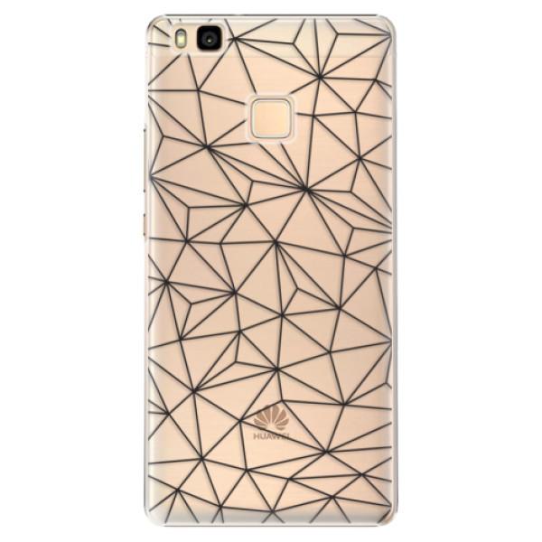 Plastové pouzdro iSaprio - Abstract Triangles 03 - black - Huawei Ascend P9 Lite