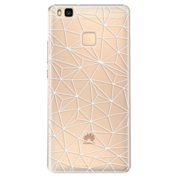 Plastové pouzdro iSaprio - Abstract Triangles 03 - white - Huawei Ascend P9 Lite