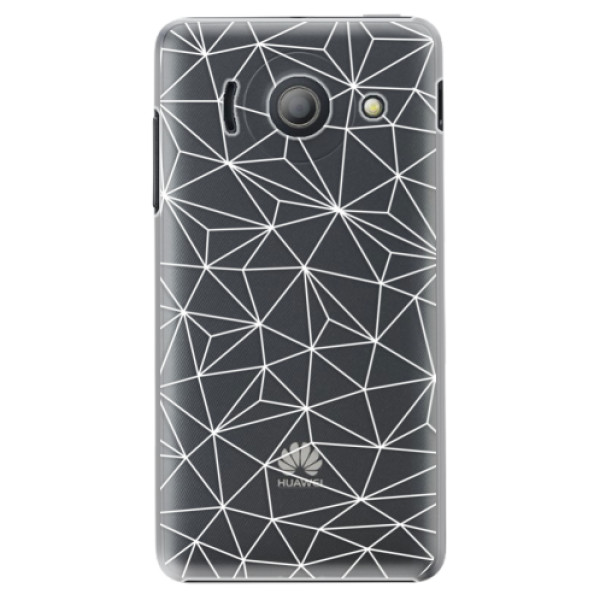 Plastové pouzdro iSaprio - Abstract Triangles 03 - white - Huawei Ascend Y300