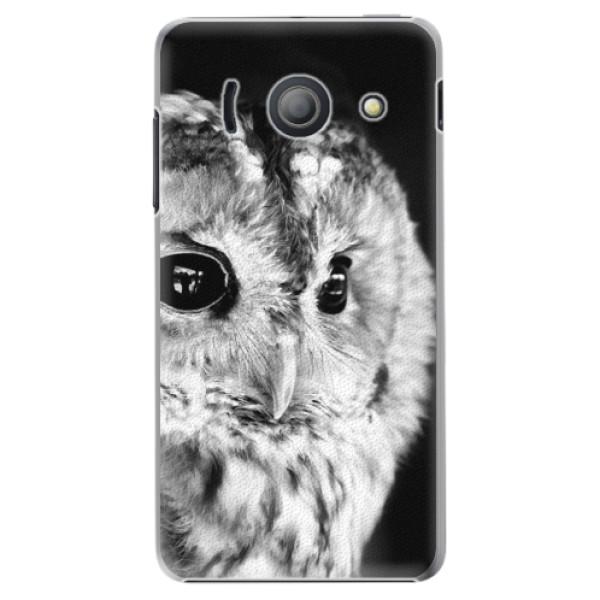 Plastové pouzdro iSaprio - BW Owl - Huawei Ascend Y300