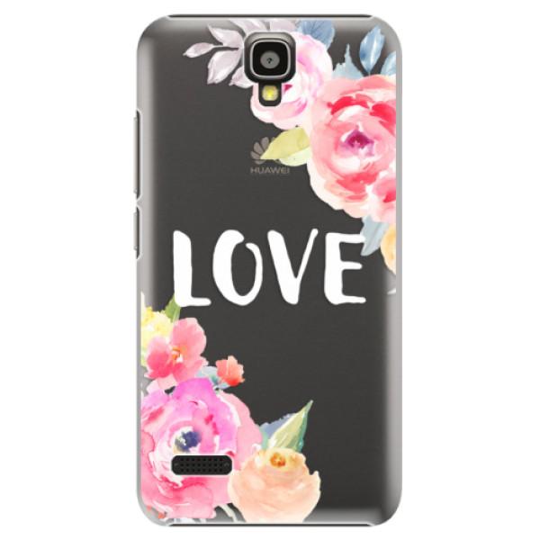 Plastové pouzdro iSaprio - Love - Huawei Ascend Y5