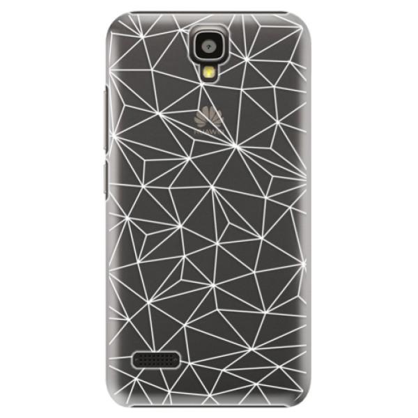 Plastové pouzdro iSaprio - Abstract Triangles 03 - white - Huawei Ascend Y5