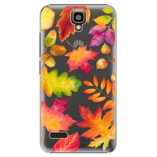 Plastové pouzdro iSaprio - Autumn Leaves 01 - Huawei Ascend Y5