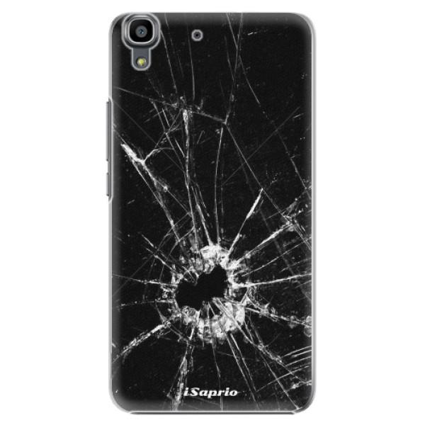 Plastové pouzdro iSaprio - Broken Glass 10 - Huawei Ascend Y6