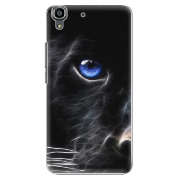Plastové pouzdro iSaprio - Black Puma - Huawei Ascend Y6