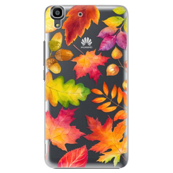 Plastové pouzdro iSaprio - Autumn Leaves 01 - Huawei Ascend Y6