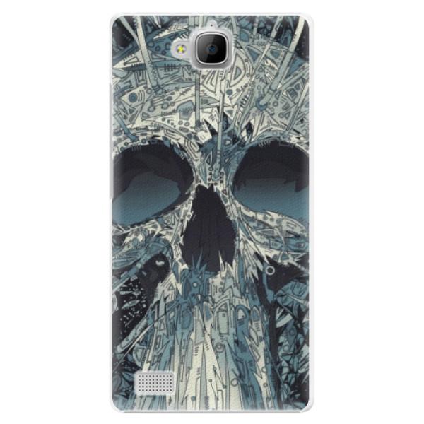 Plastové pouzdro iSaprio - Abstract Skull - Huawei Honor 3C