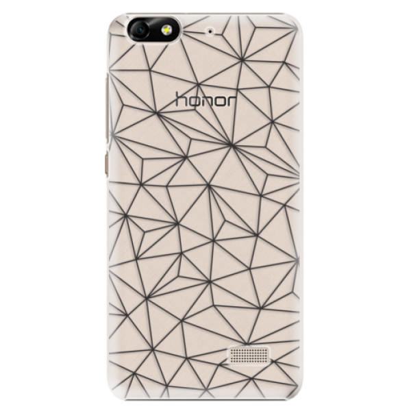 Plastové pouzdro iSaprio - Abstract Triangles 03 - black - Huawei Honor 4C