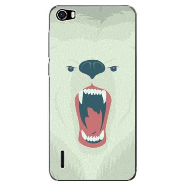 Plastové pouzdro iSaprio - Angry Bear - Huawei Honor 6