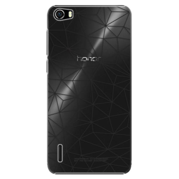 Plastové pouzdro iSaprio - Abstract Triangles 03 - black - Huawei Honor 6