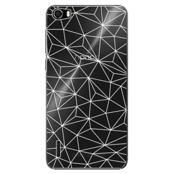 Plastové pouzdro iSaprio - Abstract Triangles 03 - white - Huawei Honor 6