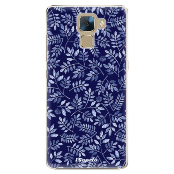 Plastové pouzdro iSaprio - Blue Leaves 05 - Huawei Honor 7