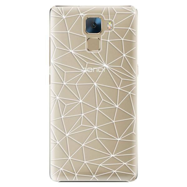 Plastové pouzdro iSaprio - Abstract Triangles 03 - white - Huawei Honor 7