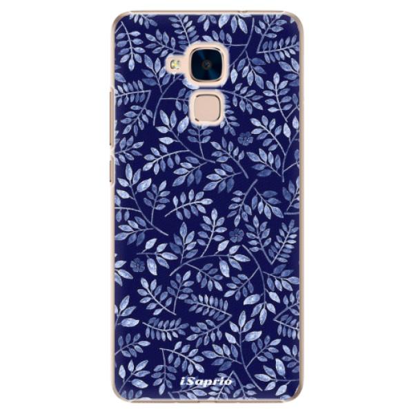 Plastové pouzdro iSaprio - Blue Leaves 05 - Huawei Honor 7 Lite