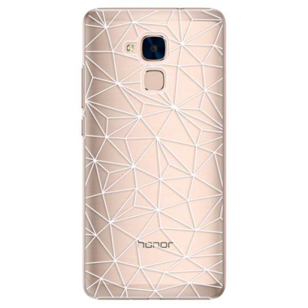 Plastové pouzdro iSaprio - Abstract Triangles 03 - white - Huawei Honor 7 Lite