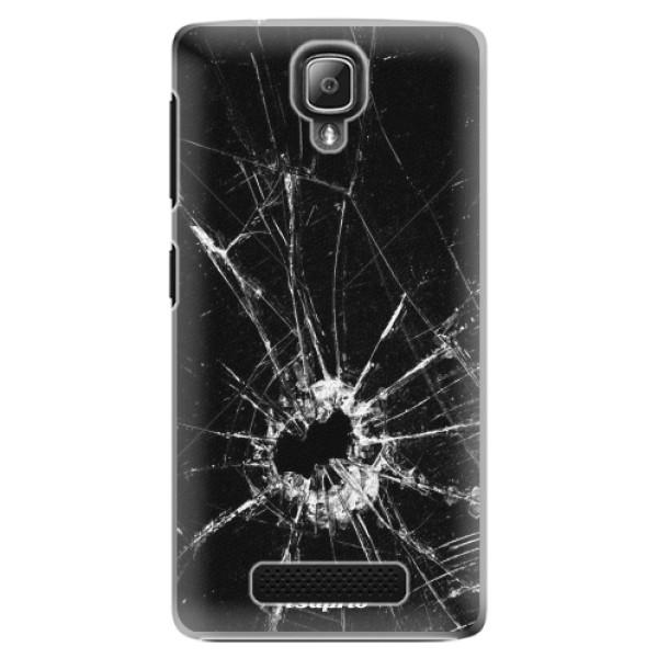 Plastové pouzdro iSaprio - Broken Glass 10 - Lenovo A1000