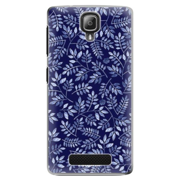 Plastové pouzdro iSaprio - Blue Leaves 05 - Lenovo A1000